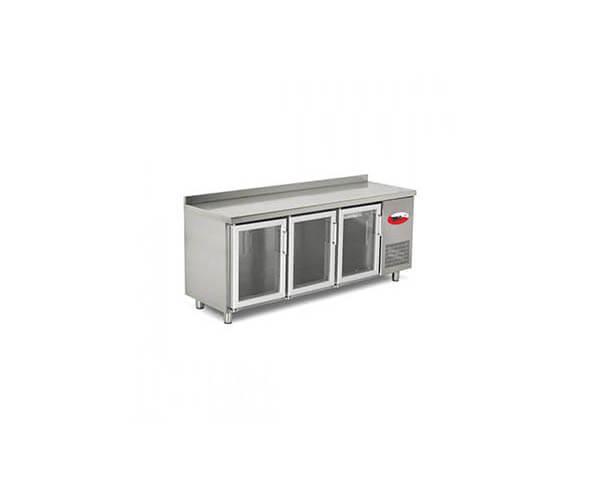 camlı tezgah tipi buzdolapları