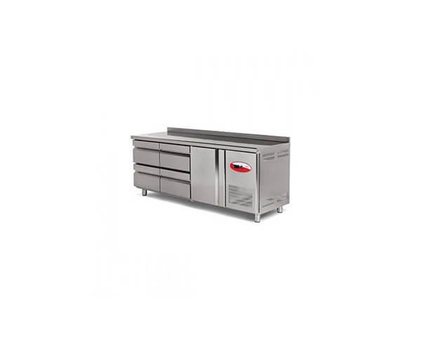 çekmeceli tezgah tipi buzdolapları (fanlı)